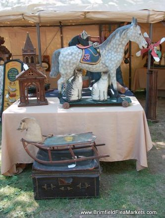 Brimfield Spring 2016 dates Charming booth shot taken at the July Brimfield Show