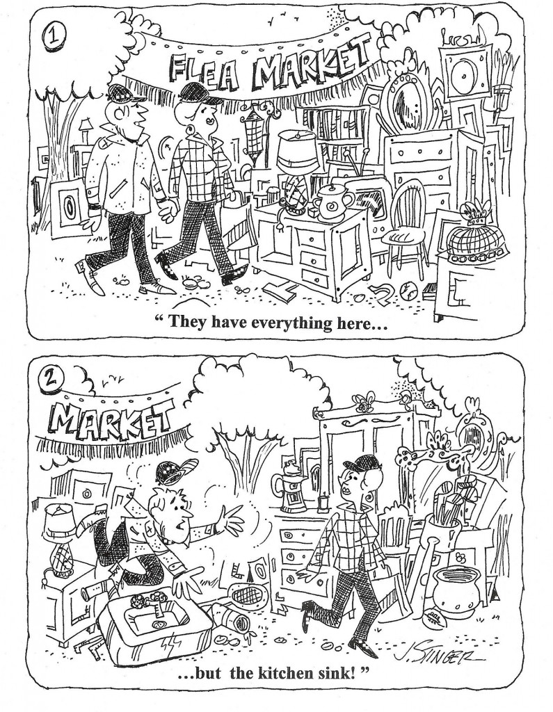 Brimfield Flea Market Humor Cartoons