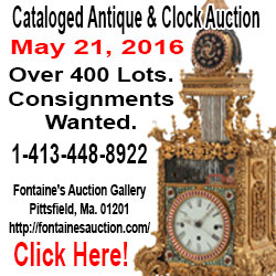 Fontaine's Auction Gallery - Cataloged Antique & Clock - Auction May 21, 2016