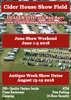 Cider House Show Field - June Weekend, August Antiques Week 2018