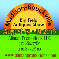 Madison Bouckville Big Field Antiques Show - 2018