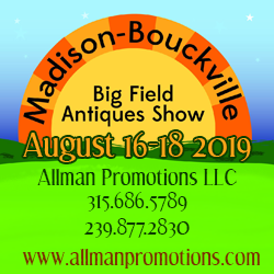 Madison Bouckville Big Field Antiques Show - 2019