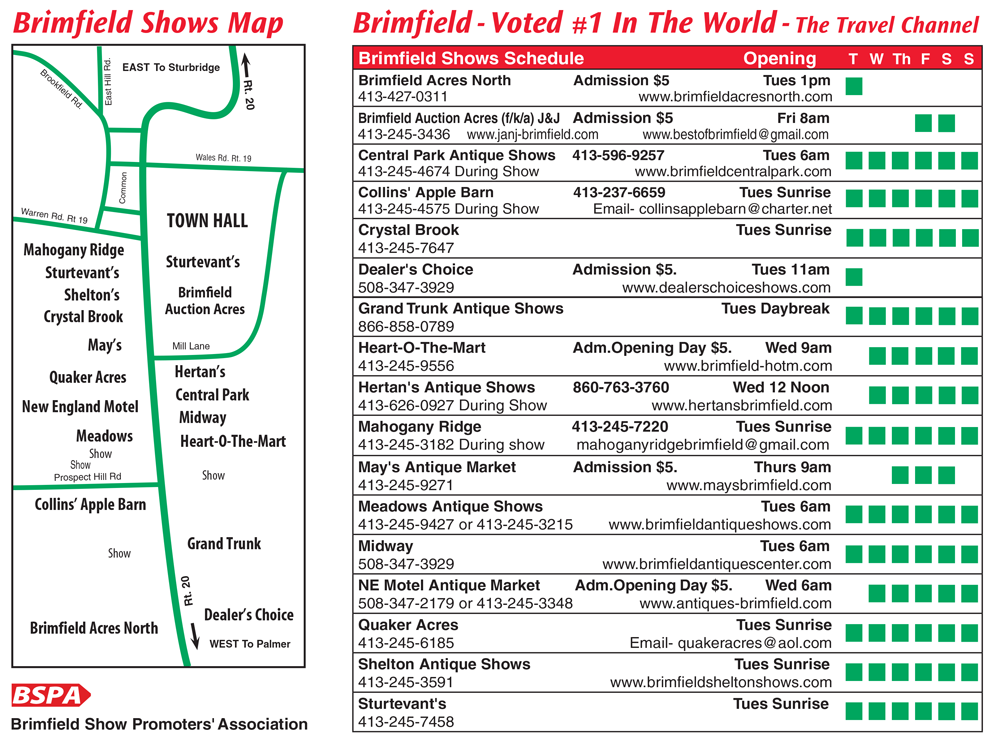2019 Brimfield Show Dates - Brimfield MA