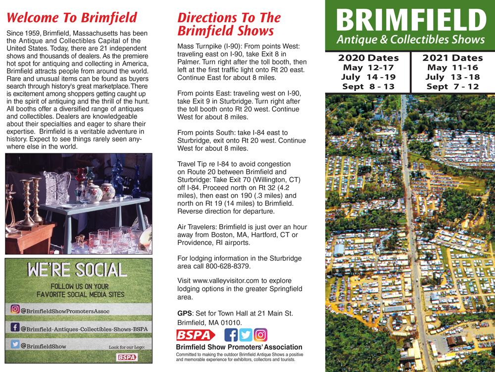 2020-2021 Brimfield Antique Flea Markets Brochure
