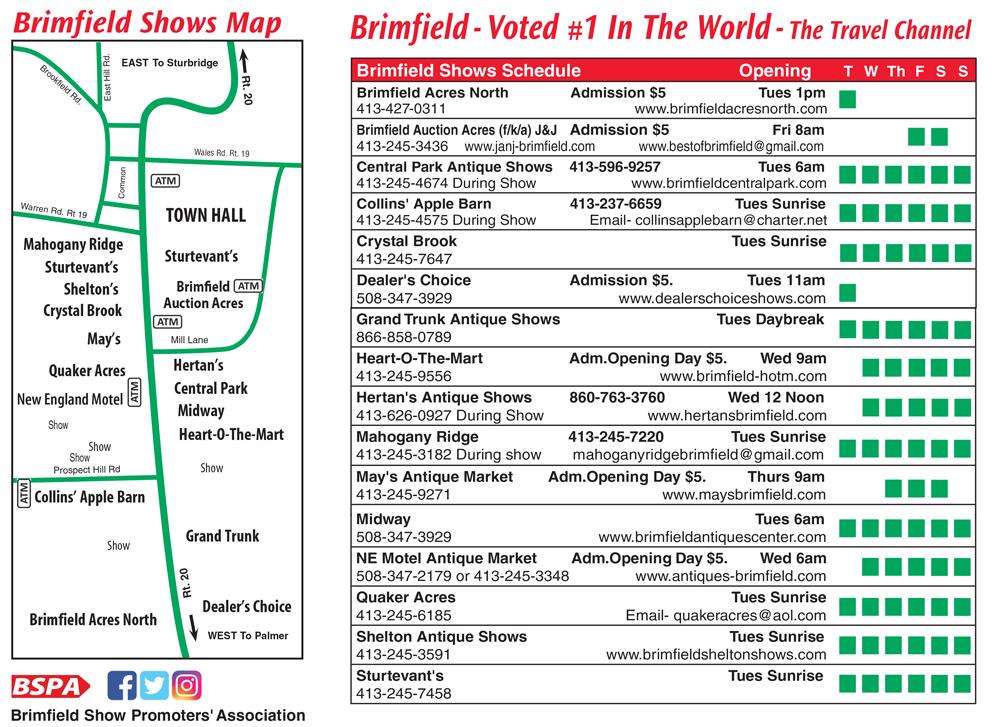 Brimfield Show Dates 2020