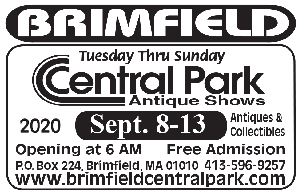 Brimfield Central Park Antique Shows - July 2020