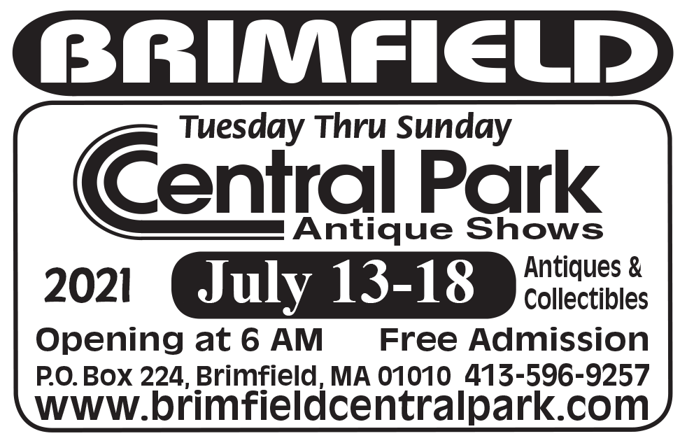 Brimfield Central Park Antique Shows - May 2021