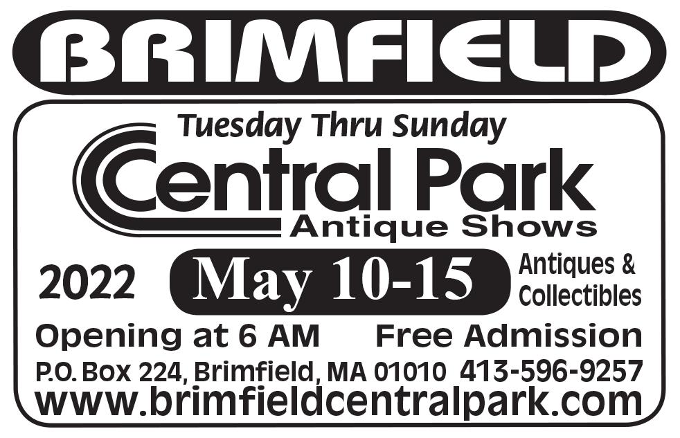 Brimfield Central Park Antique Shows - 2022